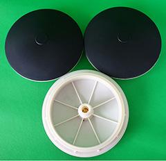 215/260/300膜片式曝气头橡胶微孔曝气头曝气盘污水处理曝气头